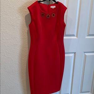 Red gold Calvin Klein dress size 6